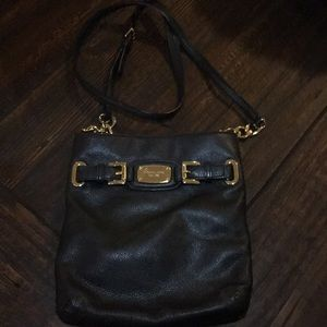 NEW Micheal Kors Black Leather Crossbody